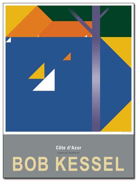 cote d'azur poster saint maxime by bobkessel
