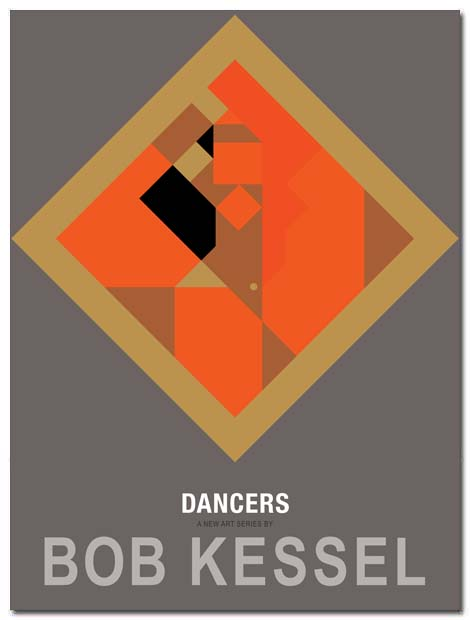 dancers poster orange veil by bobkessel