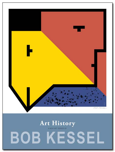 art history poster chicken head by bobkessel