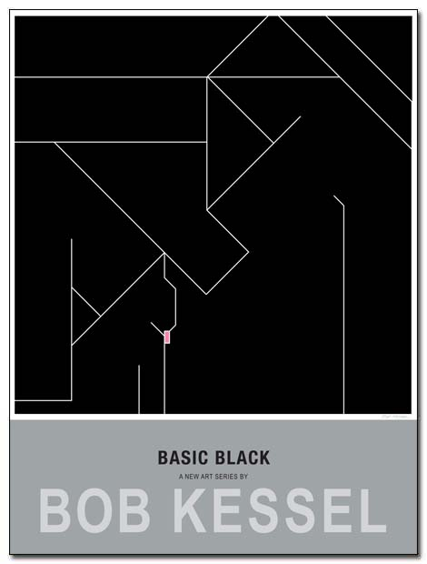 basic black poster cat by bobkessel