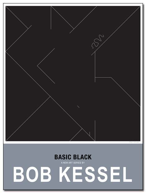 basic black poster genoux by bobkessel