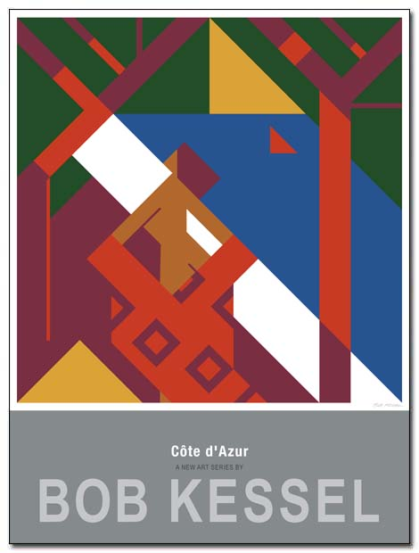 cote d'azur poster agay by bobkessel