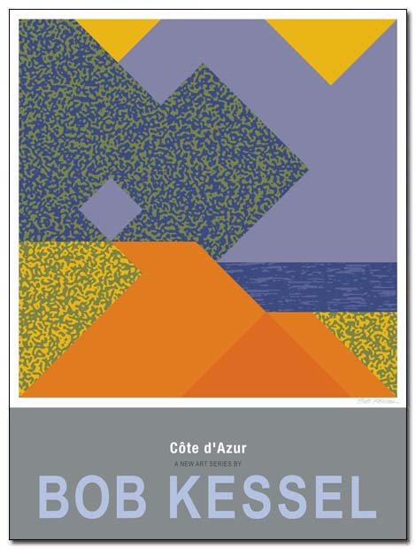 cote d'azur poster antibes by bobkessel