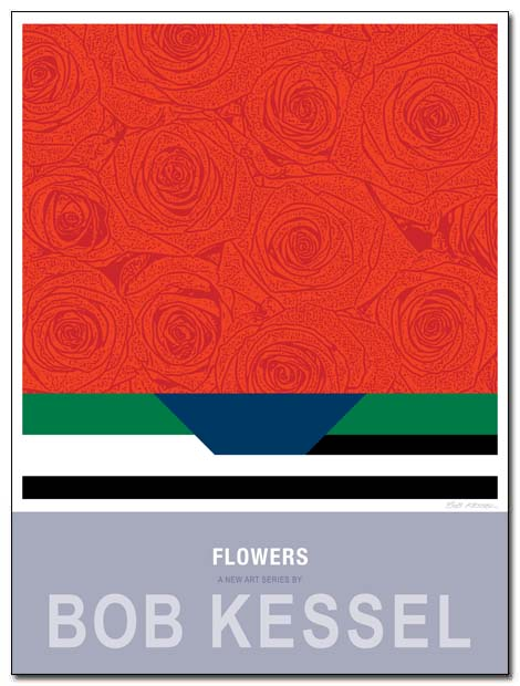 flowers poster red by bobkessel