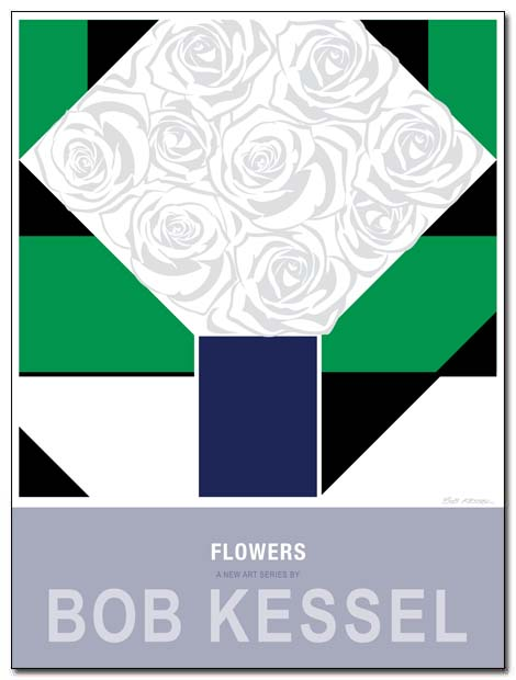 flowers poster white roses by bobkessel