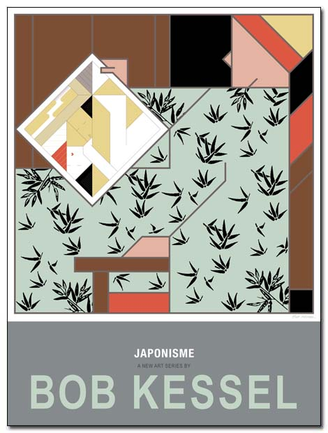 japonisme poster print by bobkessel