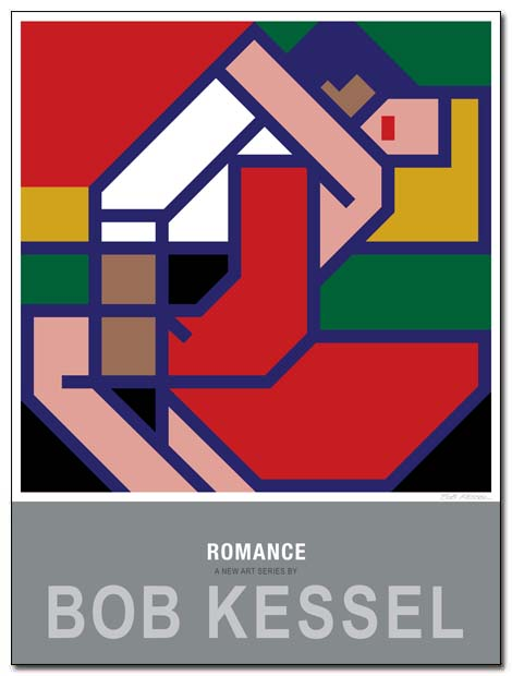 romance poster red by bobkessel