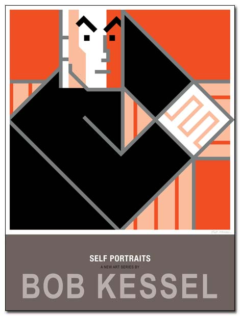 self portrait poster clasp by bobkessel