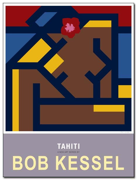 tahiti poster flower girl by bobkessel