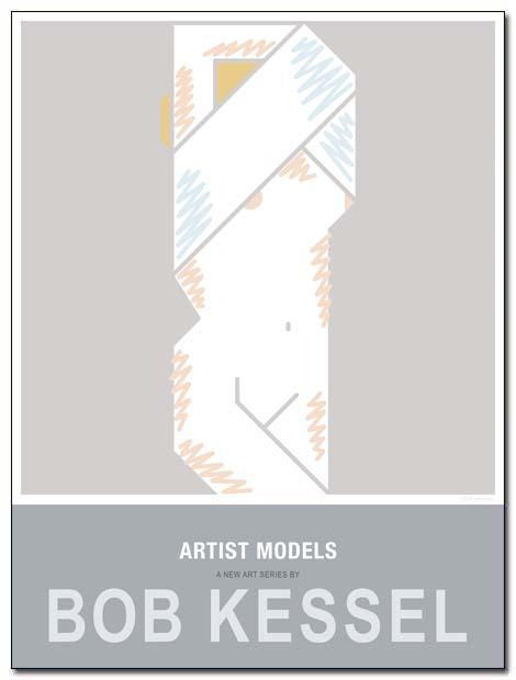 artist models poster shirt off by bobkessel