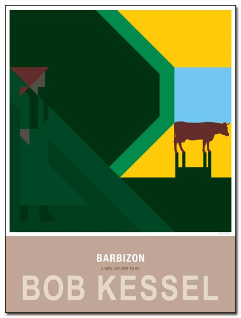 barbizon poster cowgirl by bobkessel