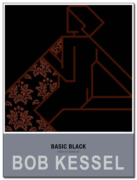 basic black poster blanket by bobkessel