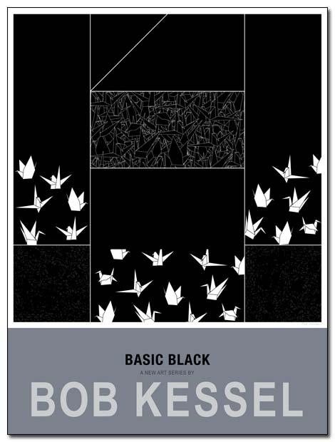basic black poster kimono by bobkessel