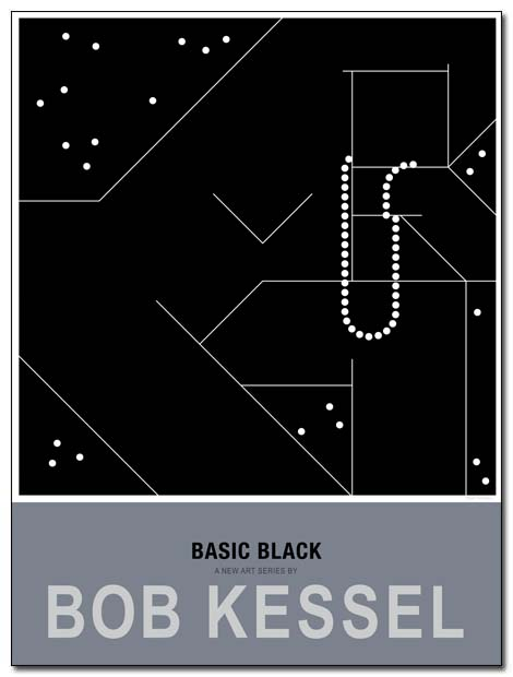 basic black poster necklace by bobkessel