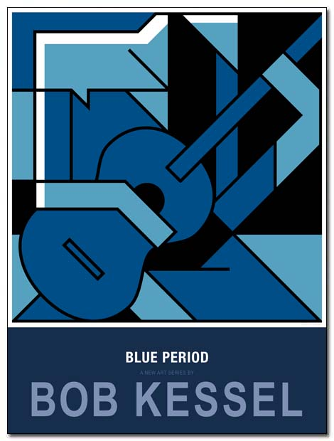 blue period poster blues guitarist by bobkessel