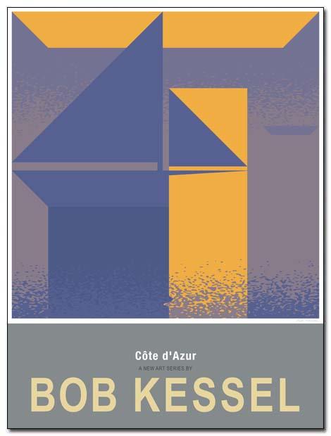 cote d'azur poster saint tropez by bobkessel