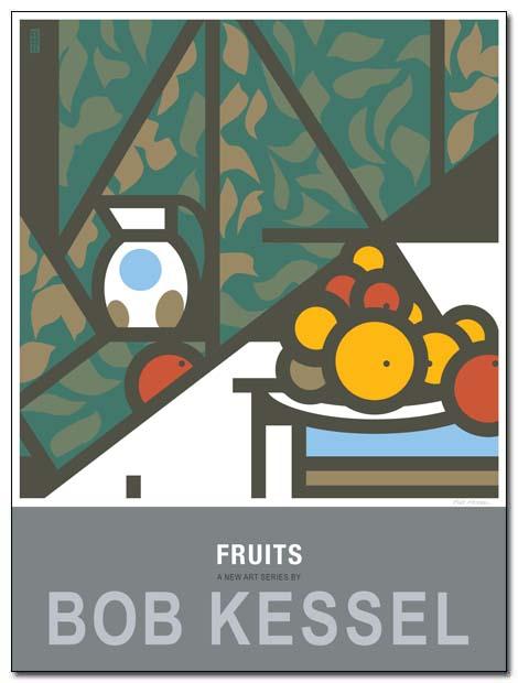 fruits poster pique fleurs by bobkessel