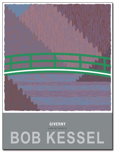 GIVERNY poster green bridge by bobkessel