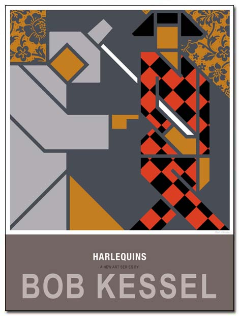 harlequins poster twosome by bobkessel