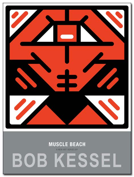 muscle beach poster arms up by bobkessel