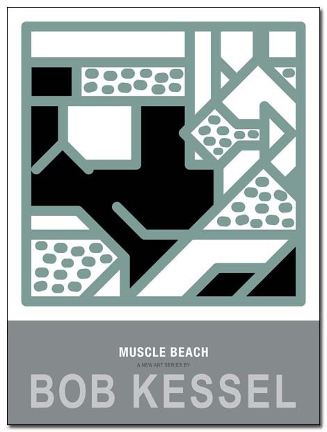 muscle beach poster human by bobkessel