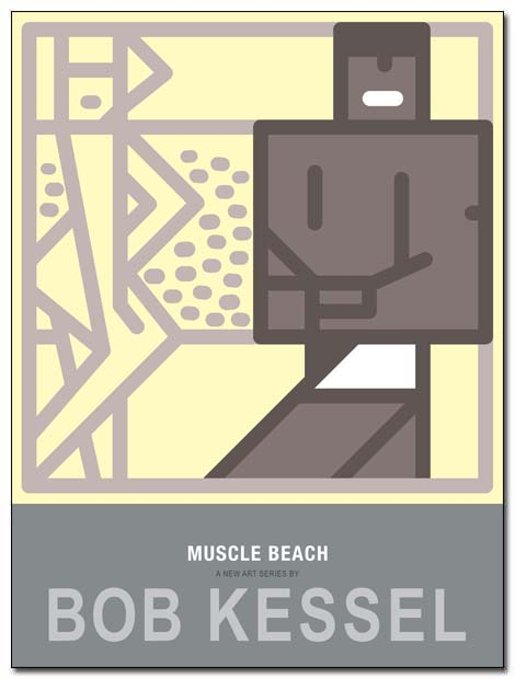 muscle beach poster posing by bobkessel