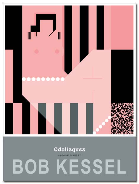 odalisques poster pink by bobkessel