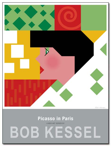 picasso in paris poster profile by bobkessel