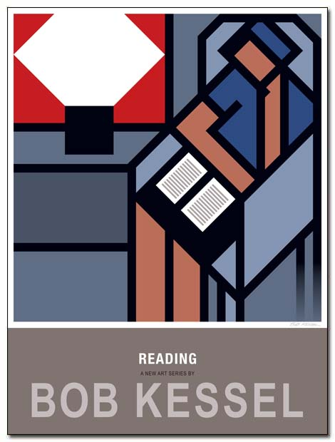 reading poster open book by bobkessel