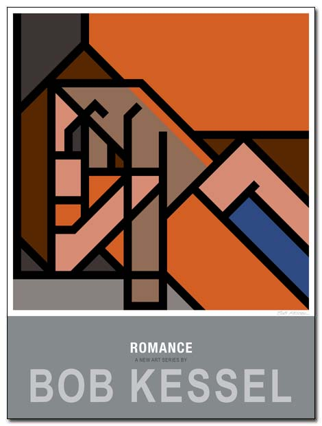 romance poster orange by bobkessel