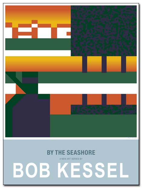 by the seashore poster sunset walk by bobkessel