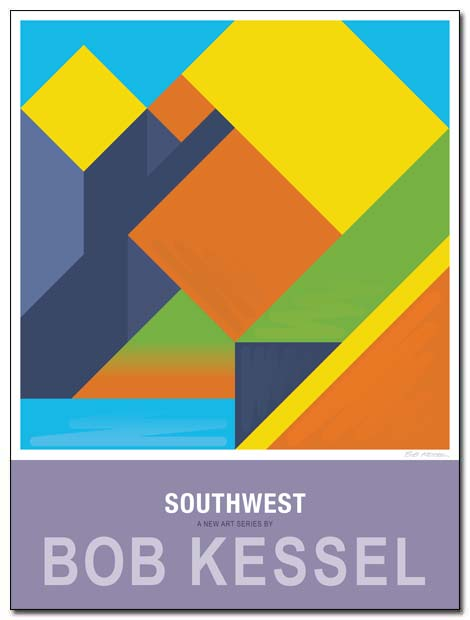 southwest poster rock face by bobkessel