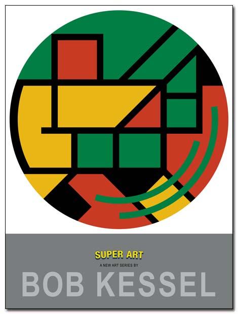 super art poster round by bobkessel