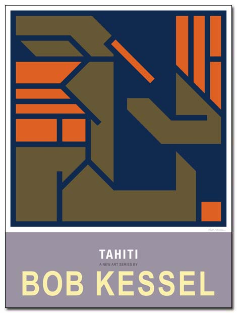 tahiti poster combing by bobkessel
