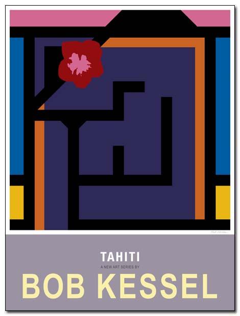 tahiti poster island girl by bobkessel