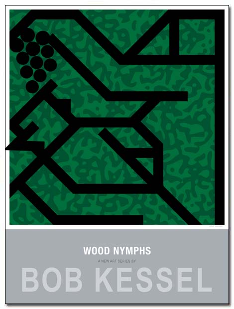 wood nymphs poster grapes by bobkessel
