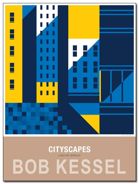 cityscapes poster nyc shadows