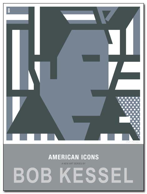 american icons poster elvis by bobkessel