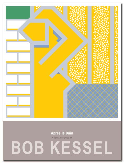 après le bain poster yellow bath by bobkessel