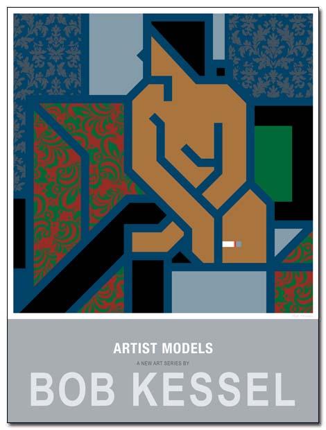 artist models poster cigarette by bobkessel