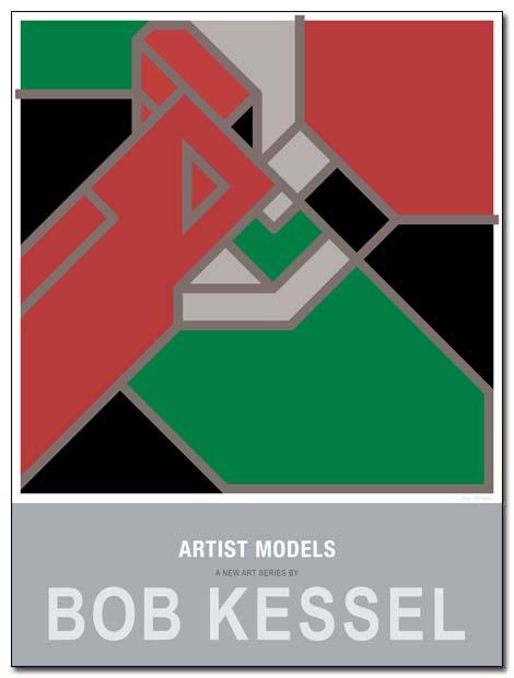 artist models poster green dress by bobkessel