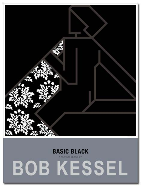 basic black poster blanket by bobkessel