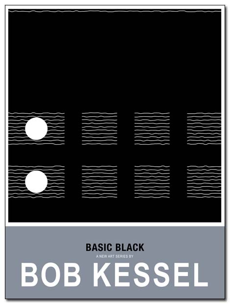basic black poster night by bobkessel
