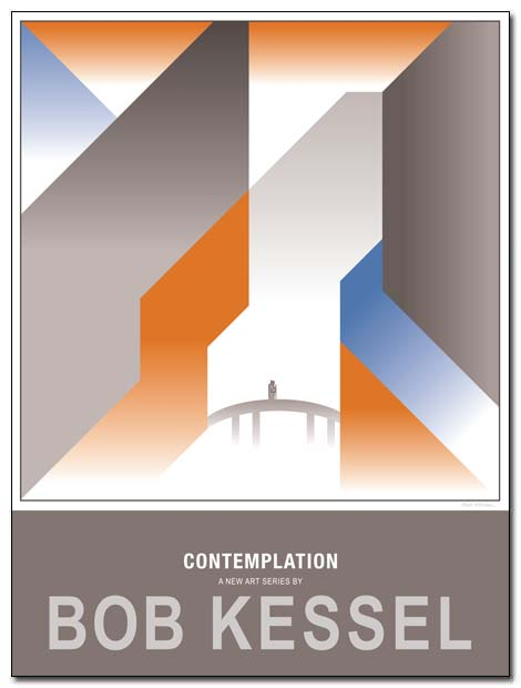 contemplation poster bridge by bobkessel