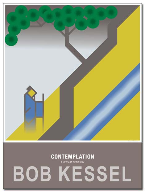 contemplation poster mountain stream by bobkessel