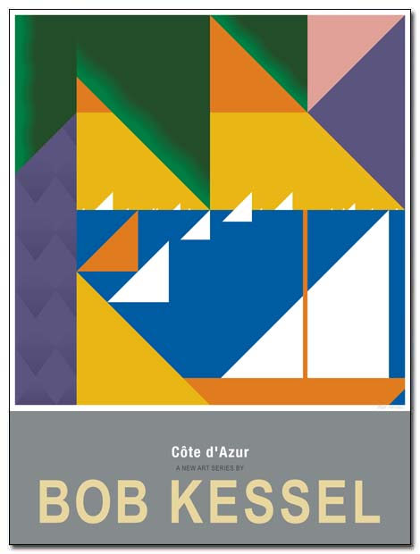 cote azur poster palm by bobkessel
