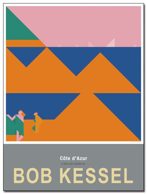 cote d'azur poster seashore by bobkessel