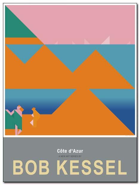 cote azur poster seashore2 by bobkessel