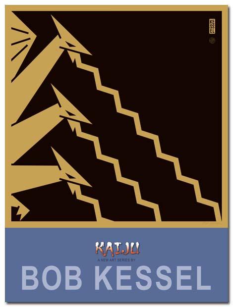 kaiju poster ghidrah by bobkessel