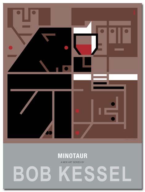 minotaur poster wine by bobkessel